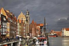 Terraplenagem de Dluga em Gdansk poland Imagem de Stock Royalty Free
