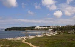 Terraplenagem de DVFU na ilha de Russkiy Imagens de Stock Royalty Free