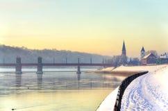 Terraplenagem de Kaunas imagens de stock royalty free