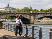 Terraplenagem de Paris Imagem de Stock