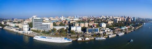 Terraplenagem de Rostov-On-Don Panorama Rússia fotos de stock royalty free
