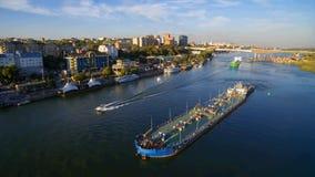 Terraplenagem de Rostov-On-Don Rússia imagem de stock royalty free