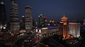 Terraplenagem de Waitan de Shanghai vídeos de arquivo