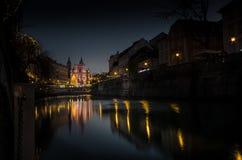 Terraplenagem do rio Imagem de Stock