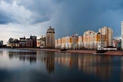 Terraplenagem do Rio Irtysh Fotos de Stock