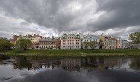 Terraplenagem dourada, uma área residencial no local histórico de Fotografia de Stock