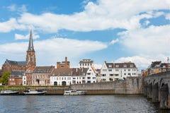 Terraplenagem em Maastricht Fotografia de Stock Royalty Free