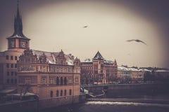 Terraplenagem em Praga imagens de stock