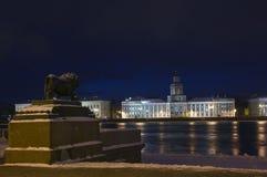 A terraplenagem inglesa, St Petersburg, Rússia imagens de stock