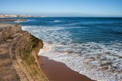Terraplenagem pelo Oceano Atlântico Fotografia de Stock Royalty Free