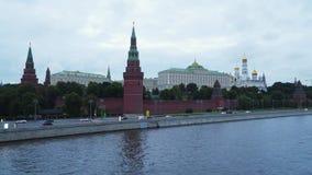 Terraplenagem perto do Kremlin em Moscou Imagem de Stock Royalty Free