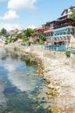 Terraplenagem sul na cidade velha de Nessebar, Bulgária Imagem de Stock
