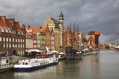 Terraplén de Dluga en Gdansk polonia Imagen de archivo libre de regalías