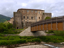 Terrarossa Castle on the Via Francigena, Italy Royalty Free Stock Photos