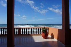 Terras aan het strand royalty-vrije stock foto's