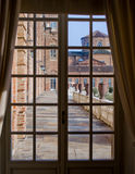 Terras buiten Reggia Di Venaria Reale royalty-vrije stock fotografie