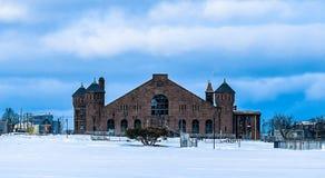 Terras comuns Halifax na neve Fotos de Stock