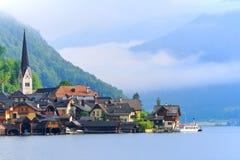 Terras culturais de Hallstatt-Dachstein/Salzkammergut Foto de Stock