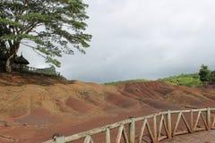 7 terras das cores de Chamarel, Maurícias Foto de Stock Royalty Free