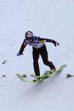 Terras de Adam MALYSZ da ligação em ponte de esqui Imagem de Stock