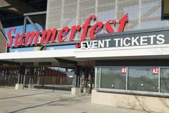 Terras de Summerfest, festival de música, Milwaukee, Wisconsin imagens de stock