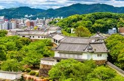 Terras do castelo de Himeji em Japão Fotos de Stock Royalty Free