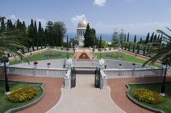 Terras do templo de Bahai em Haifa, Israel Fotos de Stock