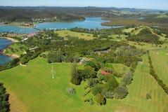 Terras do Tratado de Waitangi foto de stock