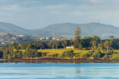 Terras do tratado de Waitangi em Paihia, Northland, Nova Zelândia Imagens de Stock