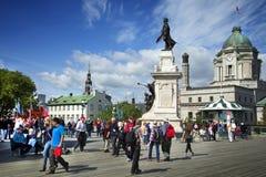 Terras Dufferin in de stad van Quebec Royalty-vrije Stock Afbeelding