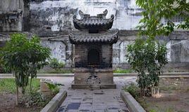 Terras em Quan Thanh Temple Fotografia de Stock Royalty Free