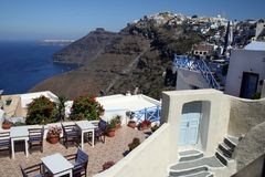 Terras - Santorini Stock Fotografie