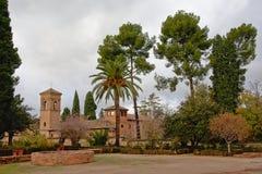 Terras van Alhambra, Granada, Spanje royalty-vrije stock foto's