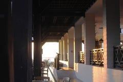Terras van de bar in middag stock foto's