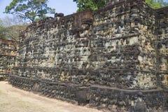 Terras van de Koning van de Lepralijder, Kambodja Stock Foto's