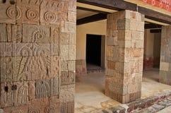 Terras van de Pijlers Patio DE los Pilares, Teotihuacan stock afbeelding