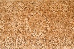 Terras van het de gipspleisterdetail van Leeuwen van Alhambra Royalty-vrije Stock Foto