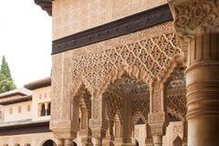 Terras van het detail van Leeuwen van Alhambra Stock Foto