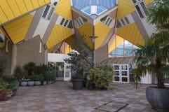 Terras van Kubushuizen in Rotterdam stock foto