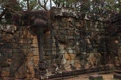 Terras van Olifanten, Angkor Thom Stock Afbeeldingen