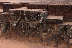 Terras van Olifanten, Angkor Thom Stock Afbeelding