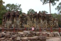 Terras van Olifanten, Angkor Thom Stock Fotografie