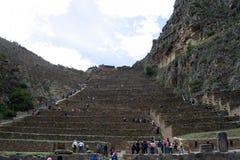 Terras van Ollantaytambo, Inca-archietecture, Peru, 02/07/2019 stock foto