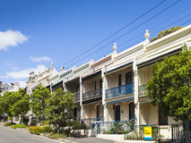 Terrashuis paddington Sydney Stock Foto's
