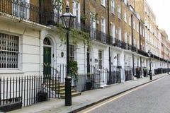 Terrashuizen in Londen Stock Fotografie