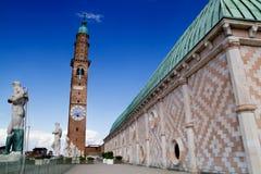 Terrass av basilikan, Vicenza, Italien Fotografering för Bildbyråer