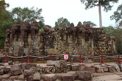 Terrass av elefanter, Angkor Thom Arkivbild