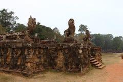 Terrass av elefanter, Angkor Thom Royaltyfria Foton