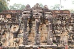 Terrass av elefanterna Arkivfoto