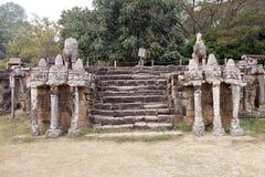 Terrass av elefanterna Arkivfoton